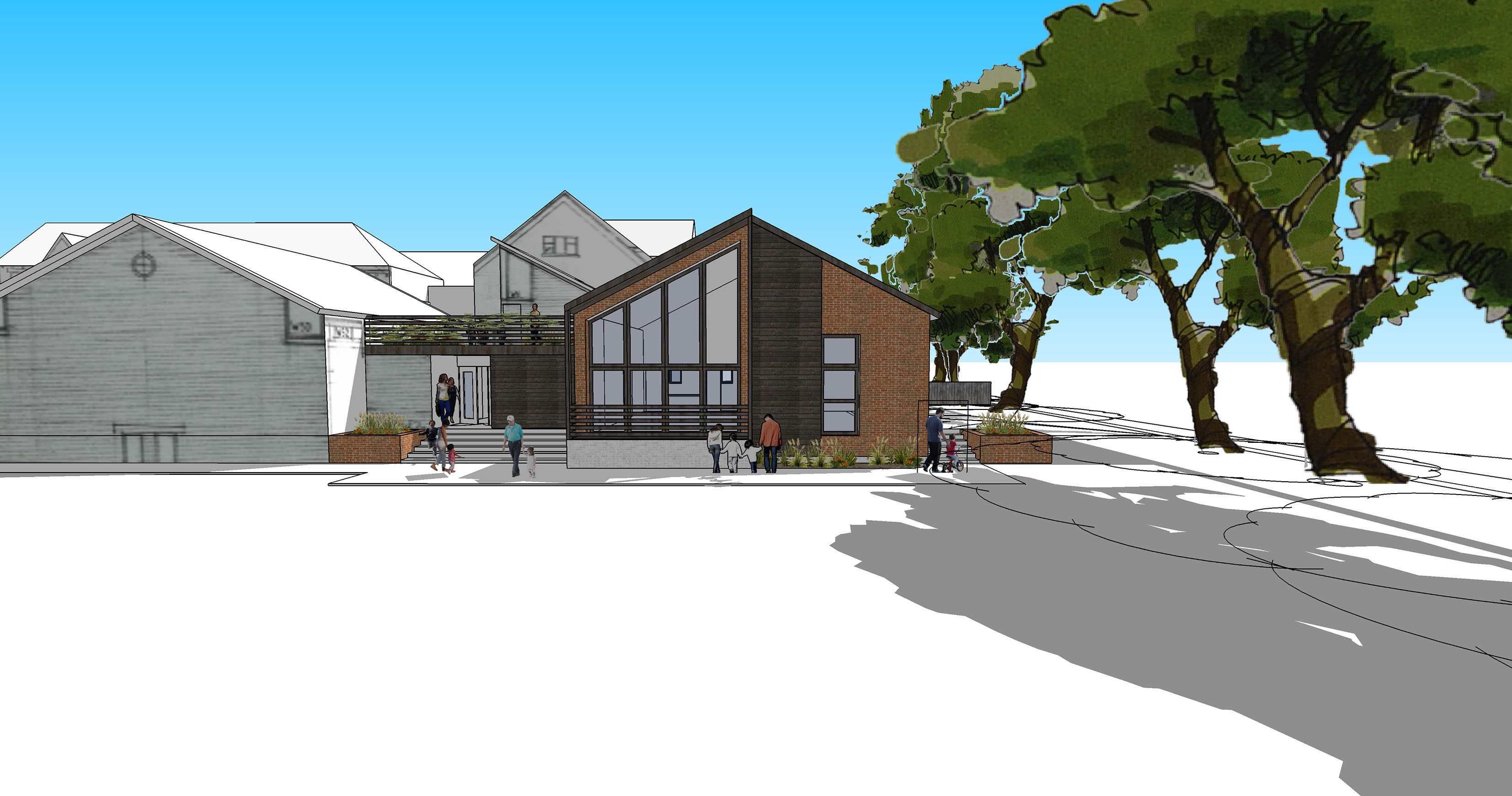 Niemen Architects Leeds Weetwood School Concept