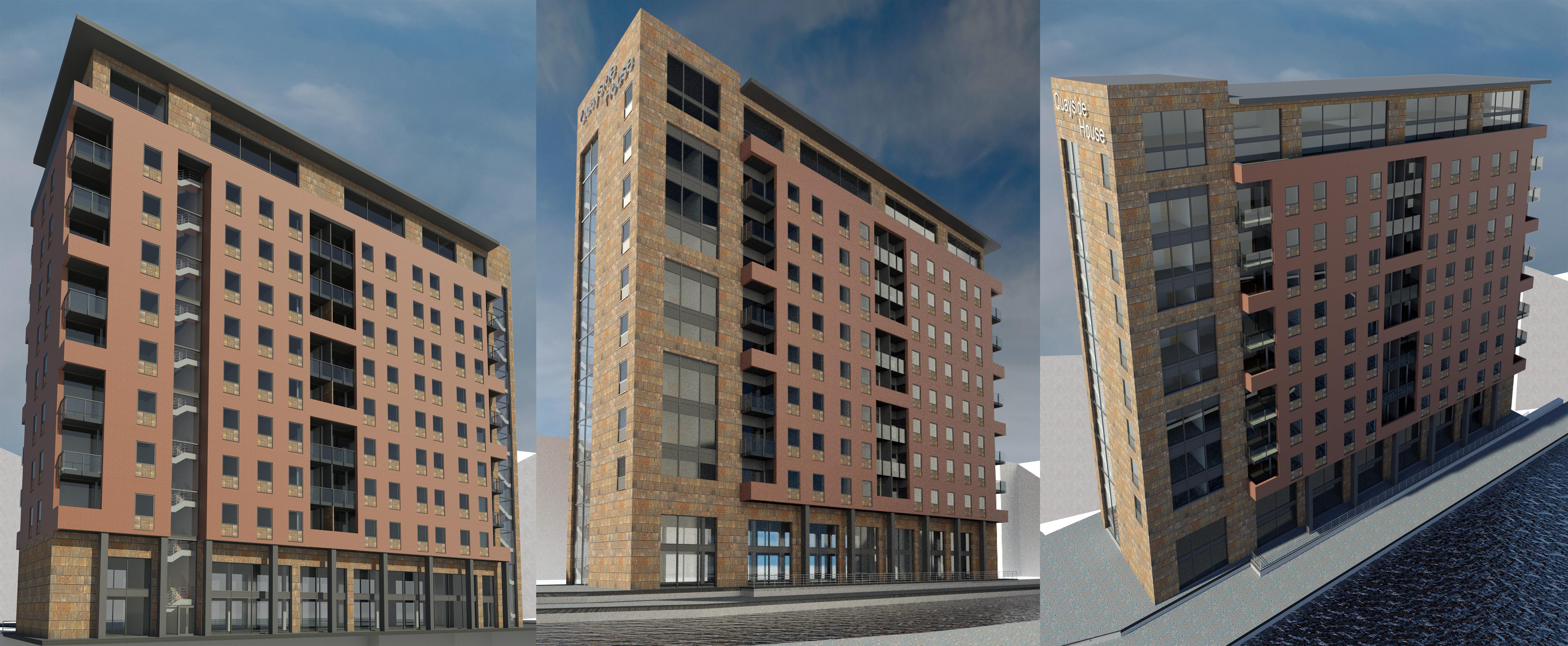 Niemen Architects Leeds West Yorkshire Mixed Use Concept Quayside Canal Wharfe BIM