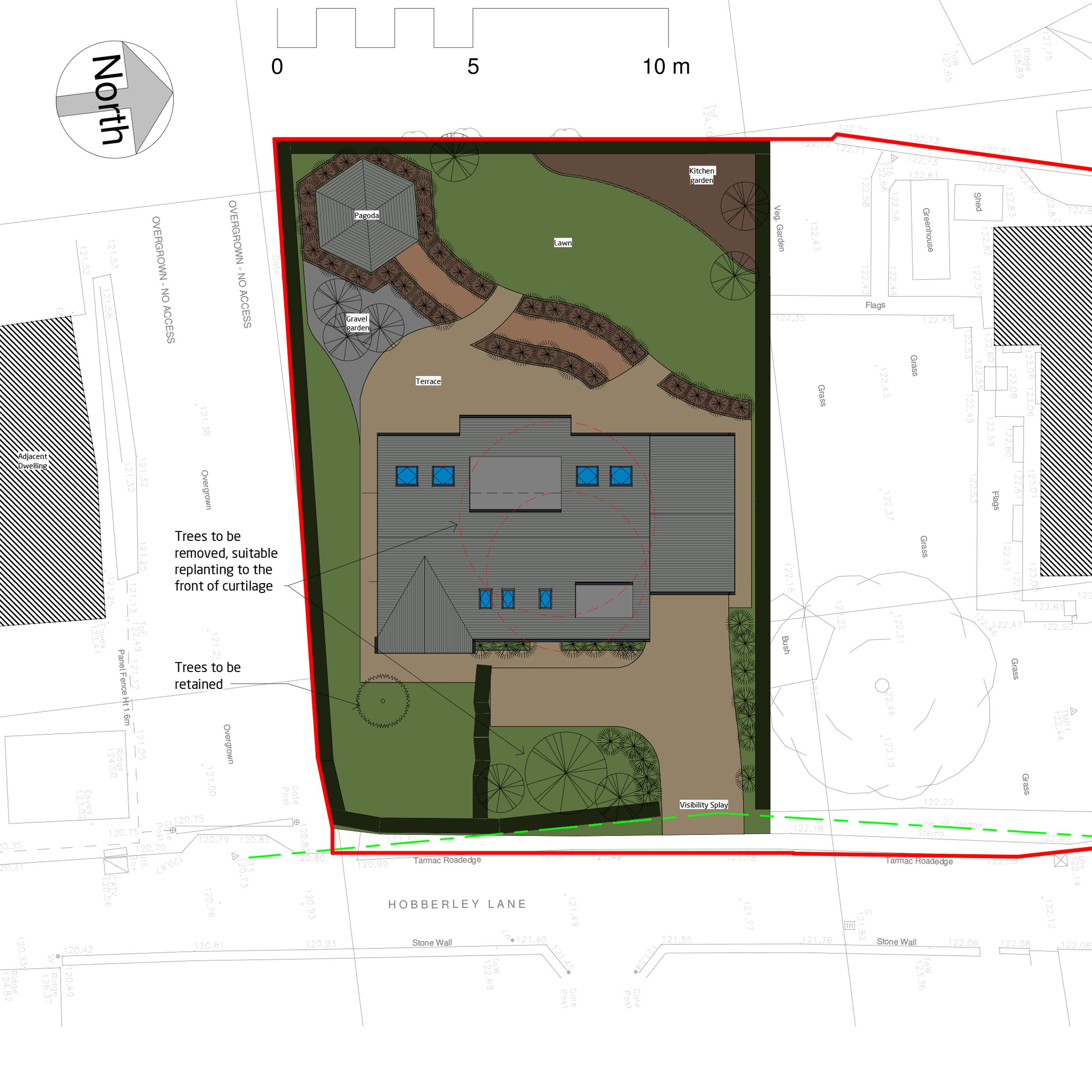 Hobberley Lane site plan Niemen Architects Leeds
